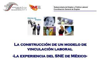 Subsecretaría de Empleo y Política Laboral Coordinación General de Empleo