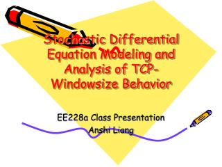 Stochastic Differential Equation Modeling and Analysis of TCP-Windowsize Behavior
