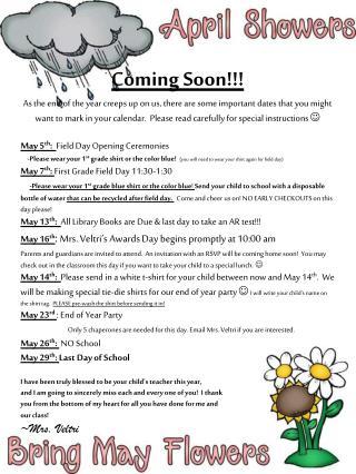 EOY Dates