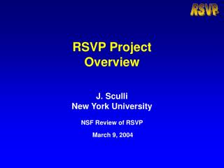 RSVP Project  Overview