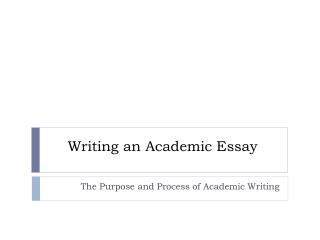 Writing an Academic Essay