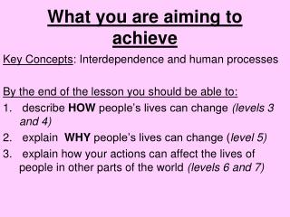 What you are aiming to achieve