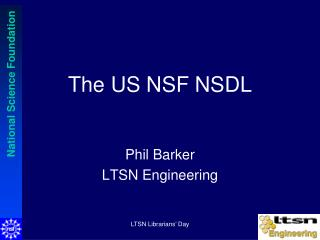 The US NSF NSDL