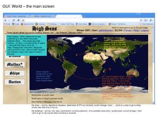 GUI: World – the main screen