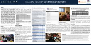 Successful Transition from Math Eight to Math I