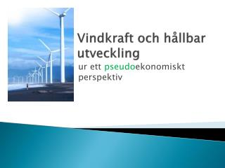 Vindkraft och hållbar utveckling