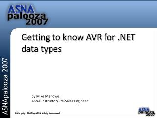 Getting to know AVR for .NET data types
