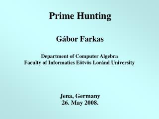 Prime  H unting