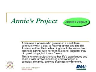 Annie�s Project