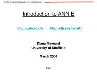Introduction to ANNIE