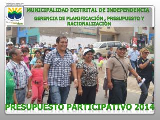 PRESUPUESTO PARTICIPATIVO 2014