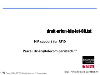 draft-urien- hip-iot-00.txt