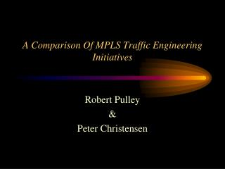 A Comparison Of MPLS Traffic Engineering Initiatives