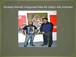 Sandeep Marwah Inaugurated New Art Gallery-Arts Unlimited