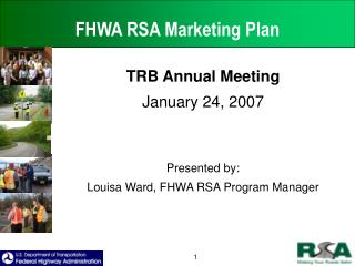 FHWA RSA Marketing Plan
