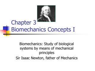 Chapter 3  Biomechanics Concepts I