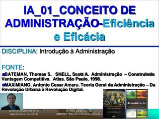 IA_01_CONCEITO DE ADMINISTRAÇÃO- Eficiência e Eficácia