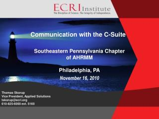 Communication with the C-Suite