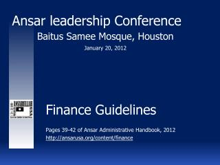 Finance Guidelines