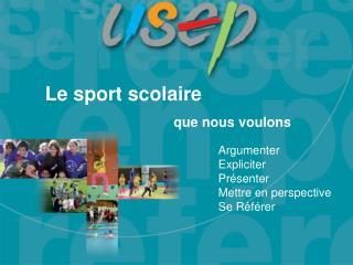 Le sport scolaire