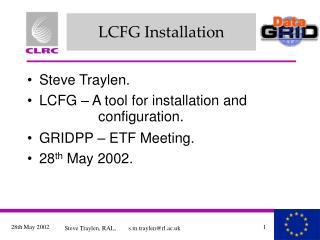 LCFG Installation