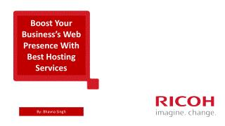 Ricoh Data Center Offers Best Hosting Services in India