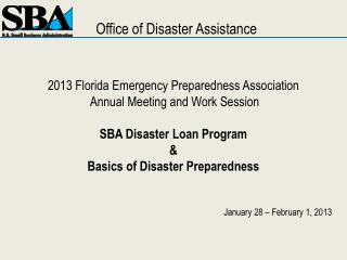 2013 Florida Emergency Preparedness Association  Annual Meeting and Work Session