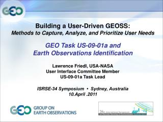 Building a User-Driven GEOSS:  Methods to Capture, Analyze, and Prioritize User Needs