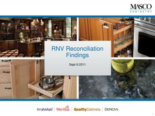 RNV Reconciliation Findings
