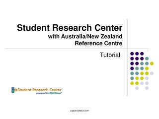 Student Research Center with Australia/New Zealand  Reference Centre
