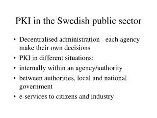 PKI in the Swedish public sector