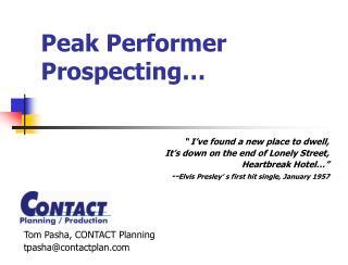 Peak Performer Prospecting