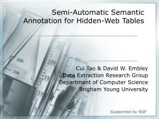 Semi-Automatic Semantic Annotation for Hidden-Web Tables