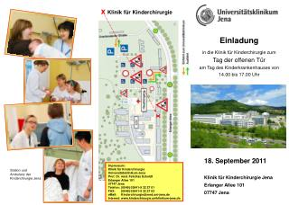 Einladung in die Klinik für Kinderchirurgie zum  Tag der offenen Tür
