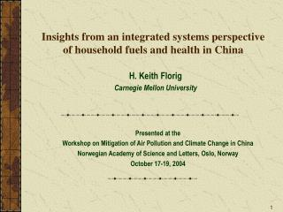 Insights from an integrated systems perspective of household fuels and health in China