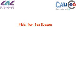 FEE for testbeam