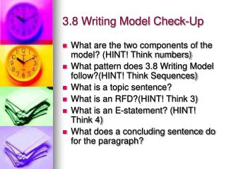 3.8 Writing Model Check-Up