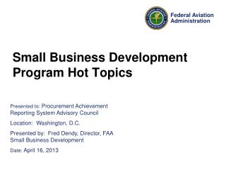 Small Business Development Program Hot Topics