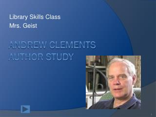 Andrew Clements Author Study
