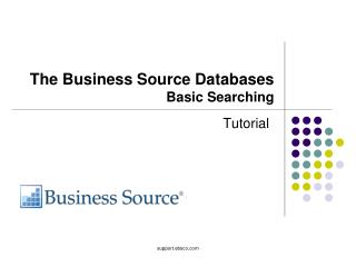 The Business Source Databases Basic Searching