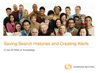 Saving Search Histories and Creating Alerts