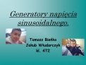 Generatory napiecia sinusoidalnego.