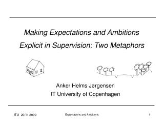 Making Expectations and Ambitions  Explicit in Supervision: Two Metaphors