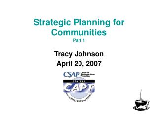 Strategic Planning for  Communities Part 1