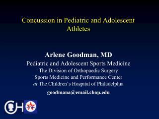 Concussion in Pediatric and Adolescent Athletes