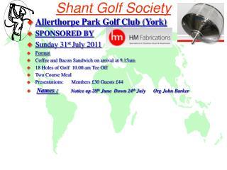 Shant Golf Society