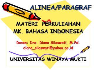 ALINEA/PARAGRAF