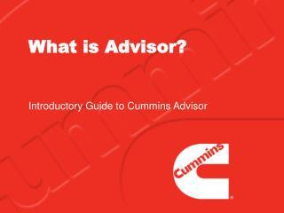 What is Advisor?