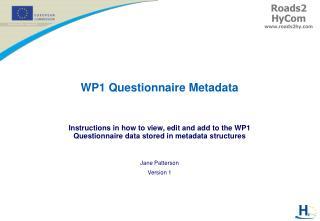 WP1 Questionnaire Metadata