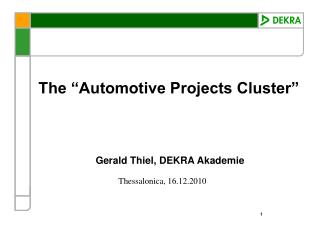 """The """"Automotive Projects Cluster"""""""